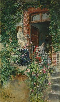 Giovanni Boldini  On the Terrace