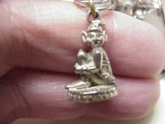 "Vintage Sterling Silver ""Skillywidden"" Charm Cornish Pixie English 1950's 60s - 30usd"