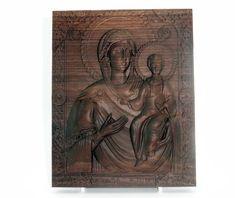 Religious gift Virgin Mary religious icon Wood carving, black walnut wood , home decor Religious Icons, Religious Gifts, Virgin Mary, Walnut Wood, Wood Carving, Lion Sculpture, Statue, Black, Home Decor