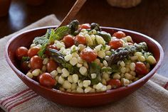 Corn, Cherry Tomato and Asparagus Salad