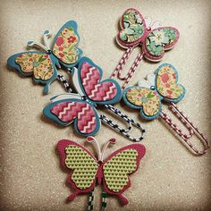 Shabby Chic Paper Butterflies Paper Clips for Planners, Filofax, Gillios or Books Notebooks Midori