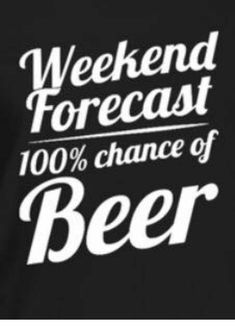 chance of beer ?You can find Beer quotes and more on our chance of beer ? Beer Memes, Beer Humor, Beer Funny, Beer Slogans, Happy Friday, Alcohol Humor, Beer Shirts, Bar Signs, Funny Signs