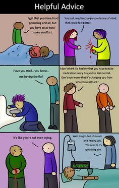 If physical diseases were treated like mental illness and emotional trauma