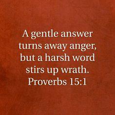 Proverbs 15:1 HCSB