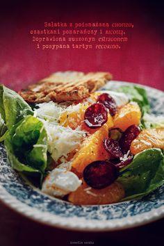 Chorizo, ricotta and orange salad