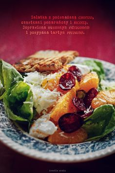 Chorizo, ricotta and orange salad