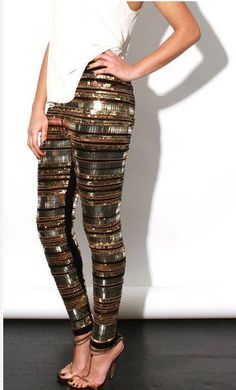 Heavy Metal Leggings Gold