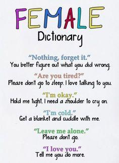 Female Dictionary (accurate,female,translated)