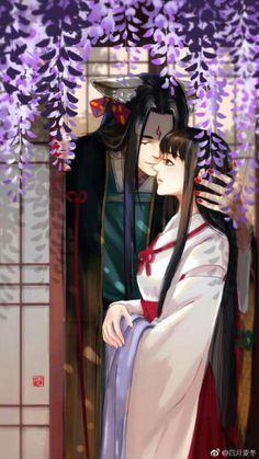 Ngọc Tảo Tiền Âm Dương Sư Shao Jun, Manga Anime, Anime Art, Chinese Picture, Tamamo No Mae, Fantasy Couples, Anime Couples Drawings, Anime Love Couple, Handsome Anime