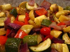 Smoked Vegetables!  #redpotatoes #zucchini #redonion