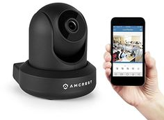 2-Pack Amcrest HDSeries 720P WiFi Wireless IP Security Surveillance Camera System IPM-721 (Black)