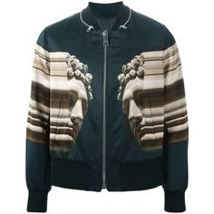 Neil Barrett abstract bust print jacket Yusty ($1,300) ❤ liked on Polyvore
