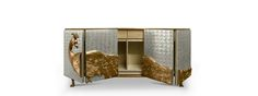 CAMILIA is a luxurious cabinet composed with mother pearl, which makes it a unique cabinet. This exclusive design possesses a elegant top finished in gold leaf.