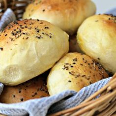 Light Wholemeal Brioche Rolls with Black Sesame, Fennel and Cumin Seeds