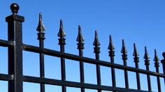 Wrought Iron Fence contractors and installers of Wrought Iron fences and other types of fences are available here. Find a Wrought Iron fence company in your area Rod Iron Fences, Wrought Iron Fences, Metal Fences, Fencing, Garden Fence Panels, Grades, Aluminum Fence, Steel Fence, Iron Steel