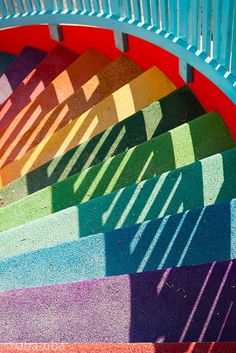 Rainbow Steps © Ursula BACH (Photgrapher, Copenhagen, Denmark) via Flickr. Stairs, Staircase, Amusement Park, Tivoli Gardens, Denmark. Her site: http://ursulabach.dk/ .. If you're not doing this: http://pinterest.com/pin/86975836525355452/  Then what are you doing? -pfb