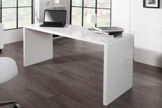 białe lakierowane biurko do pracowni Bureau Design, Ventura Design, Desk Dimensions, Buy Desk, Large Desk, Big Sofas, European Furniture, White Desks, Furniture Market