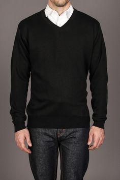 Line 48 Long Sleeve Solid V-Neck Sweater