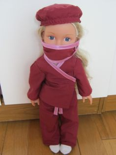 Doll's Clothes. Doctor Surgical Scrubs.