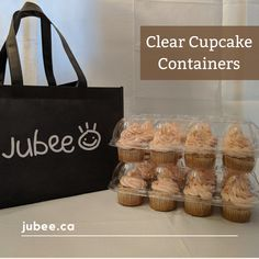 Beautifully display and protect your mini cupcakes with our Clear cupcake containers. It comes in a set of 12 and every box has 6 compartments. Made of strong plastic that won't crack, bend or break easily. The box will also protect your foods from oxygen, water and keep them fresh for longer. DM me to request. #cupcakecontainer #cupcake #cupcakebirthday #fondantcupcake #icingcupcakes #cakeshop #bakeshop #birthday #cupcakeholder #cupcakecarriers #jubeebag #clearcupcakecontainer Cupcake Icing, Cupcake Boxes, Box Cake, 12 Cupcakes, Fondant Cupcakes, Birthday Cupcakes, Cupcake Container, Environmentally Friendly Packaging, Packaging Solutions