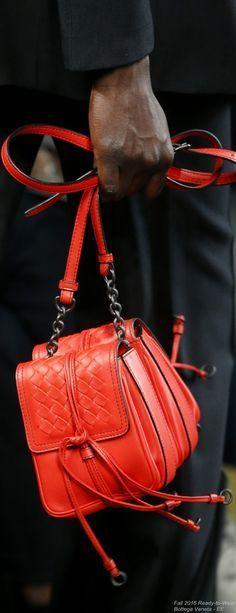 1e83fc46eea2b6 Fall 2016 Ready-to-Wear Bottega Veneta red leather handbag Bottega Veneta,  Leather