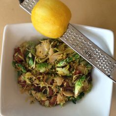 Lemon Zest Brussels Sprouts