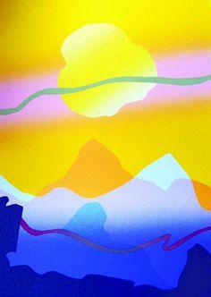 A Good Morning a silkscreen-colograph print by Arthur Secunda