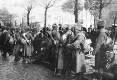 Russian soldiers in Warsaw 1914