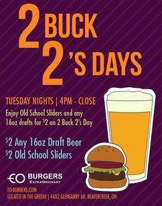 Sliders, Burgers, Old School, Tuesday, Beer, Hamburgers, Root Beer, Ale, Hamburger Patties