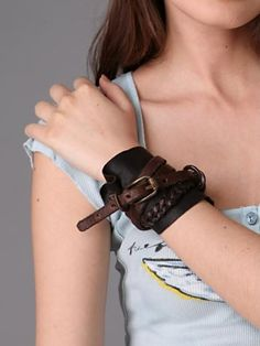 Armed in Leather Cuff $358. Nice and Pretty +dreadstop @DreadStop