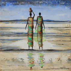 Come explore Michel Rauscher's best artworks on Artsper. Black Art, Africa Painting, Michel, Tribal Art, Custom Art, Fabric Art, African Art, Cool Artwork, Online Art