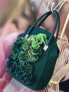 Nuno Felt Scarf, Fabric Handbags, Recycled Fashion, Tutus For Girls, Felt Hearts, Cute Bags, Handmade Bags, Beautiful Bags, Wool Felt