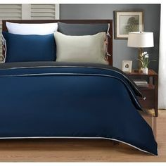 Shop for Superior Wrinkle Resistant 600 Thread Count Bahama Solid 3-piece Duvet Cover Set. Free Shipping on orders over $45 at Overstock.com - Your Online Fashion Bedding Outlet Store! Get 5% in rewards with Club O!