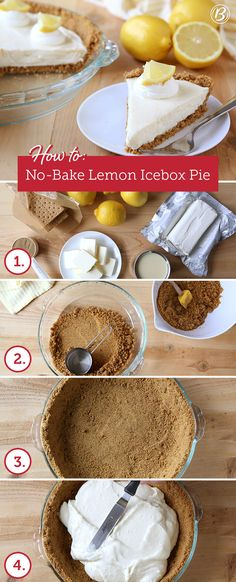Lemon lovers and lazy bakers alike will adore this easy, no-bake lemon pie. Best part is you can make it up to eight hours before serving!