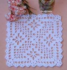 Pink Rose Crochet: Granny Square Doilie