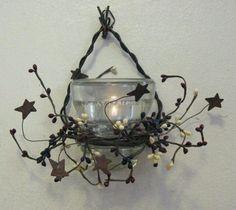 Country Craft House insulator candle. Battery operated.