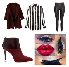 """""""Maroon Outfit"""" by nicedogs666 ❤ liked on Polyvore featuring WithChic, Balmain, MICHAEL Michael Kors, women's clothing, women, female, woman, misses and juniors"""