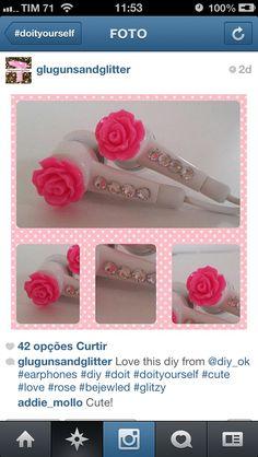 Earphone diy rose