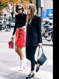 Loafer, Celine Trio bag, Grey blazer