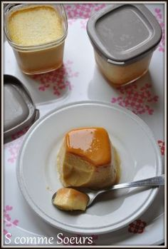 flans au caramel au beurre salé à la multidélices Baby Food Recipes, Sweet Recipes, Baking Recipes, French Recipes, Homemade Yogurt, Homemade Baby Foods, Cake Ingredients, Gourmet Desserts, Yogurt