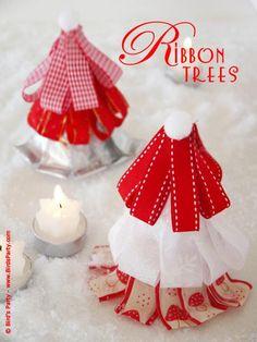DIY Christmas : TUTORIAL: Ribbon Christmas Trees