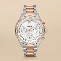 Fossil Flight Stainless Steel Watch - Two-Tone