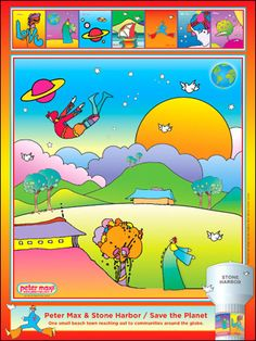 SAVE THE PLANET - Peter Max