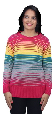 Romano Multi-Coloured Winter Warm Wool Pullover Sweater for Women *** This is an Amazon Affiliate link. Continue to the product at the image link.