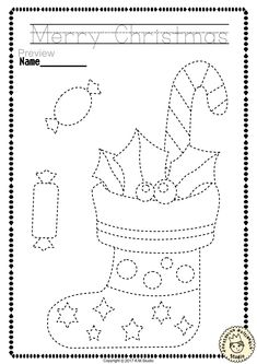 "Help your child develop their pre-writing and fine motor skills with «Christmas Trace and Color Pages"" This .pdf file includes 14 Christmas themed Tracing and Coloring Worksheets. This is a perfect activity for your young artists. Christmas Crafts For Kids, Christmas Activities, Christmas Colors, Christmas Art, Crafts For Teens, Christmas Themes, Preschool Activities, Holiday Crafts, Arts And Crafts"