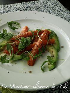 Les Aventures culinaires de Kiki: Salade de carottes rôties au cumin et d'avocat, vinaigrette aux agrumes