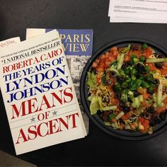 What pairs well with Lyndon Johnson and The Paris Review? Taco salad. #readeverywhere
