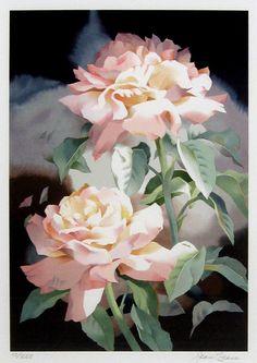 jean crane watercolor   Jean Crane - Summer Roses