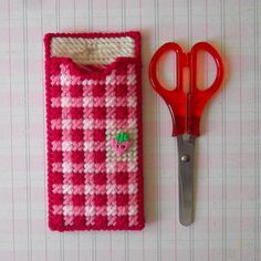 Plastic Canvas: Berry Patch Scissors Holder by ReadySetSewbyEvie