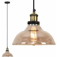 IN STOCK: best prices on Industrial Black & Gold Ceiling Light Pendant + An Amber Clear Glass Shade - No Bulb, 23916. Gold Ceiling Light, Ceiling Light Fittings, Industrial Ceiling Lights, Glass Ceiling Lights, Ceiling Lighting, Copper Pendant Lights, Copper Lamps, Chandelier Pendant Lights, Ceiling Pendant